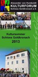 Alexander von Humboldt KULTURFORUM Schloss Goldkronach eV