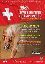 Programmheft - NRHA Switzerland