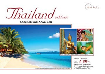 Bangkok und Khao Lak - Humboldt Studienreisen