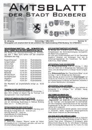 Amtsblatt vom Donnerstag, den 7. März 2013, Nummer 10 - Boxberg