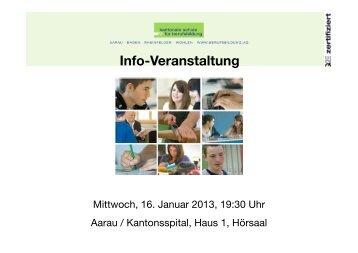 Info-Veranstaltung - Kantonale Schule für Berufsbildung