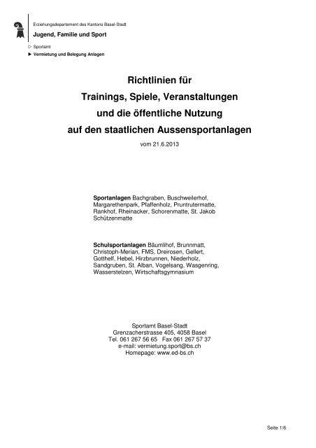 PDF document, 44Kb - Erziehungsdepartement