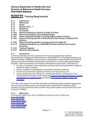 Section 9.1 Training Requirements - Arizona Department of Health ...