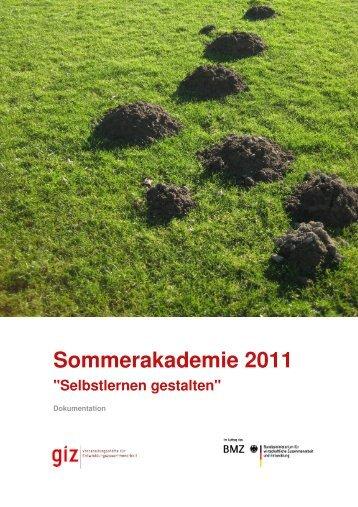 Sommerakademie 2011 (pdf, 3.65 MB, DE) - GIZ