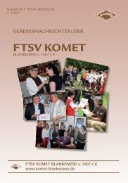 Vereinsnachrichten 2/2013 - Komet Blankenese