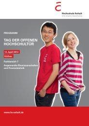 20120122 Online-Flyer_Köthen.indd - Hochschule Anhalt