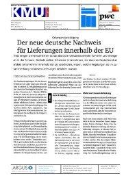 Der neue deutsche Nachweis - PwC