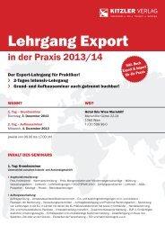 Lehrgang Export - Kitzler Verlag