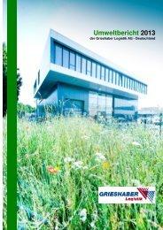 gehts zum Umweltbericht 2013 - Grieshaber Logistik AG
