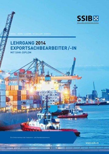 Export Sachbearbeiter mit SIHK Diplom 2014