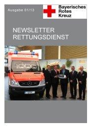 Newsletter Rettungsdienst - BRK Hersbruck