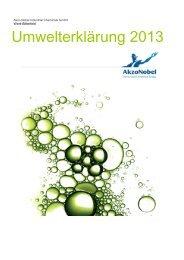 aktuelle Umwelterklärung - AkzoNobel