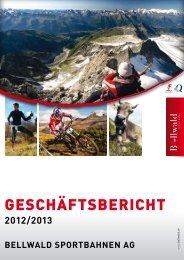 Jahresbericht 2012-2013 - Bellwald Tourismus