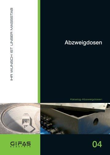 Hauptkatalog Abzweigdosen - GIFAS-ELECTRIC GmbH