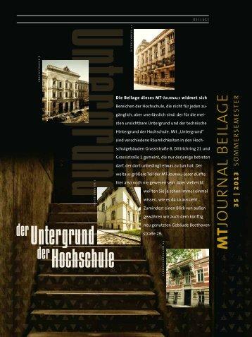 MT-Journal Nr. 35 Beilage - Hochschule für Musik und Theater ...