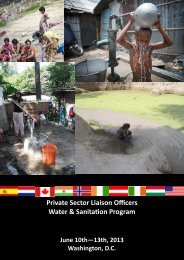 2013 PSLO Water & Sanitation Mission Profile Booklet - Greater ...