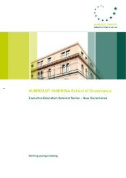 Executive Education Seminar Series - HUMBOLDT-VIADRINA ...