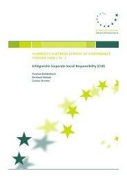 CSR-Studie - HUMBOLDT-VIADRINA School of Governance