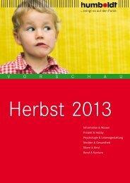 Vorschau humboldt Herbst 2013 - Schlütersche Verlagsgesellschaft