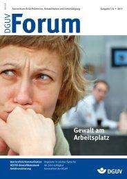 Ausgabe 7/13 - DGUV Forum