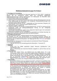 Wettbewerbsbestimmungen Enduro 2014 - DMSB