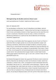 Meldung herunterladen (PDF 20KB) - Buddhistische Tor Berlin