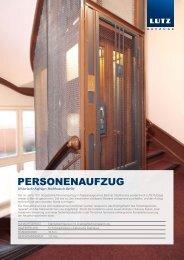 PERSONENAUFZUG - LUTZ Aufzüge