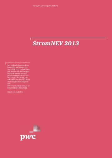 StromNEV 2013 - PwC Blogs