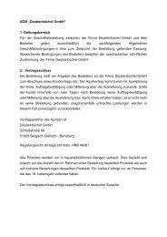 """AGB """"Daubenbüchel GmbH"""" 1. Geltungsbereich Für die ..."""