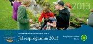 Jahresprogramm 2013 - Biosphärenreservat Rhön