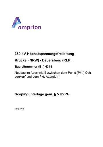 Unterlage zum Scopingtermin am 19.04.2013 in ... - Attendorn