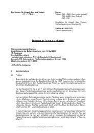 Deputationsvorlage - Der Senator für Umwelt, Bau und Verkehr