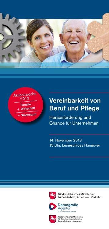 Vereinbarkeit von Beruf und Pflege - Beruf & Familie gGmbH
