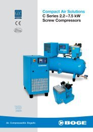 Compact Air Solutions C Series 2.2 –7.5 kW ... - Boge Kompressoren