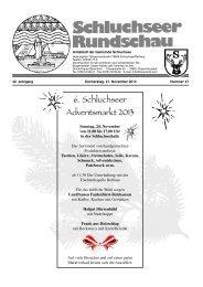 Rundschau Nr. 47.pdf - Gemeinde Schluchsee