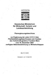 Planergänzungsbeschluss Wirbelschleppen - Hessisches ...