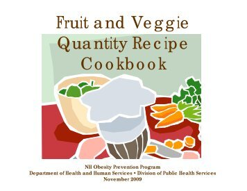 Fruit and Veggie Quantity Recipe Cookbook - University of ...