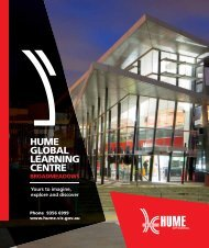 HUME GLOBAL LEARNING CENTRE - Hume City Council