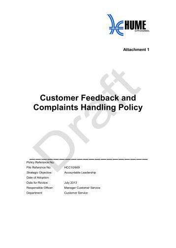 customer feedback and complaint form