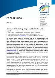 PRESSE INFO - Radio Regenbogen