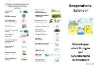 Kooperationskalender Kindertageseinrichtungen und ... - Attendorn
