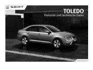 Toledo Preisliste und technische Daten - Autohaus Bohnes