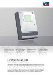 Power Plant Controller - SMA Solar Technology AG