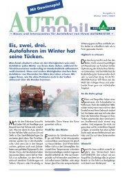 Eis, zwei, drei. Autofahren im Winter hat seine ... - AUTOMEISTER