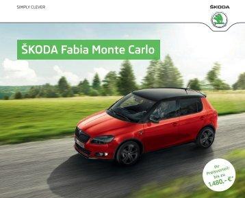 Fabia Monte Carlo Broschüre/Preisliste - Skoda Auto Deutschland ...