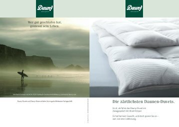 Dauny Produkte - Betten Thaler