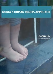 NOKIA´S HUMAN RIGHTS APPROACH