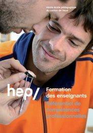 Formation des enseignants Référentiel de compétences ... - HEP Vaud