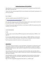 Technical Specification: WAV & BWAV - BBC.com