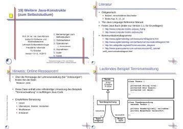 19) Weitere Java-Konstrukte (zum Selbststudium) - Lehrstuhl ...